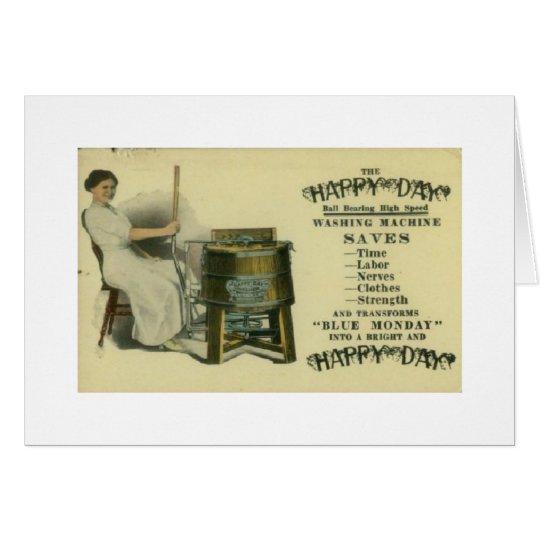 Glückliche Tageswaschmaschine, Karte