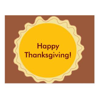Glückliche Thankgiving Torte Postkarte