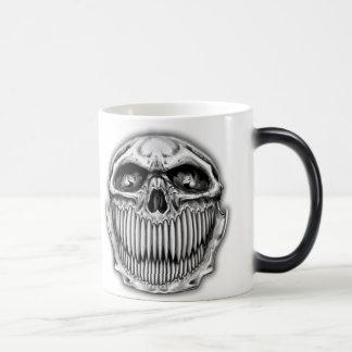 Glückliche u. traurige Schädel-Kaffee-Tasse Verwandlungstasse