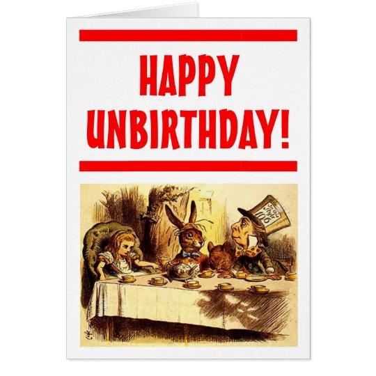 Glückliche Unbirthday Karte