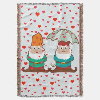 Glückliche und mürrische Gnomes Decke