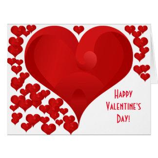 Glückliche Valentine-Liebe-Herzen des Valentines Karte
