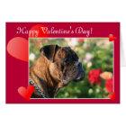 Glückliche Valentinstag-Boxer-Hundegrußkarte Karte