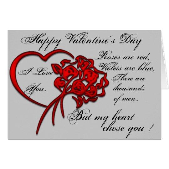 Glückliche Valentinstag-Karte Grußkarte