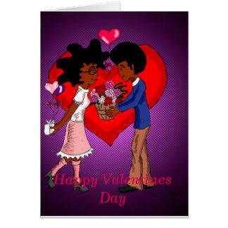 Glückliche Valentinstag-Karte Karte