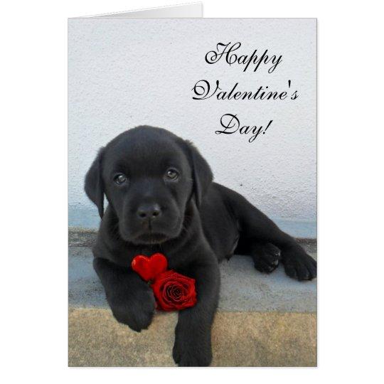 Glückliche Valentinstag-Labrador-Hundekarte Grußkarte