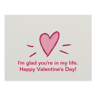 Glückliche Valentinstag-Postkarten Postkarte