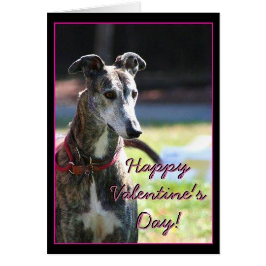 Glückliche Valentinstag-Windhundgruß Karte