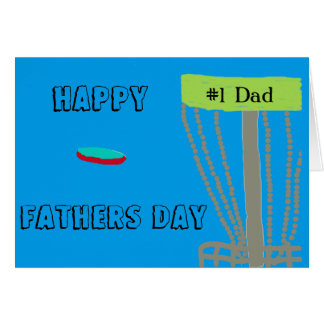 Glückliche Vatertags-Disc golfin Vati-Grußkarte Grußkarte