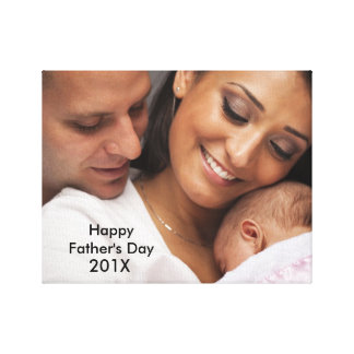 Glückliche Vatertags-kundenspezifische Leinwanddrucke