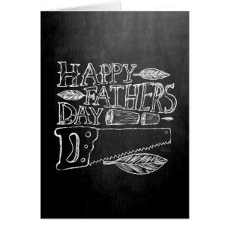 Glückliche Vatertags-Tafel Grußkarte