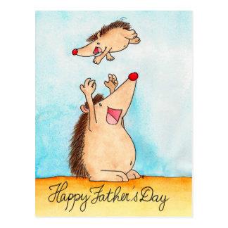 Glückliche Vatertagspostkarte durch Nicole Janes Postkarte