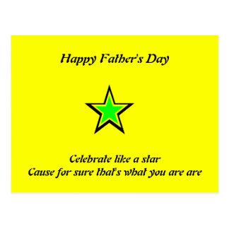 Glückliche Vatertagspostkarten Postkarten