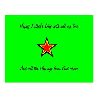 glückliche Vatertagspostkarten Postkarte