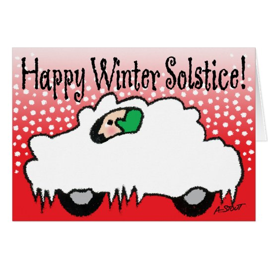 Glückliche Winter-Sonnenwende! Grußkarte