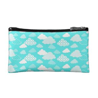 Glückliche Wolken-Muster-Tasche Makeup-Tasche