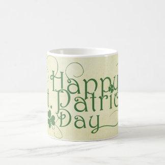 Glücklichen St Patrick Tag rustikal Tasse