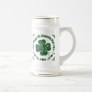 Glücklichen St Patrick Tag - Vintage Art Bierglas