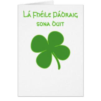 Glücklichen St Patrick Tageskarte Karte