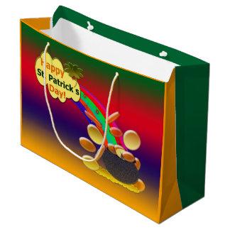 Glücklichen St Patrick Tagesregenbogen Große Geschenktüte