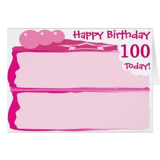 Glücklicher 100. Geburtstag Karte