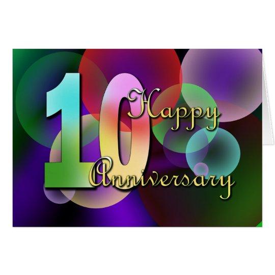Glücklicher 10. Jahrestag (Hochzeitstag) Grußkarte