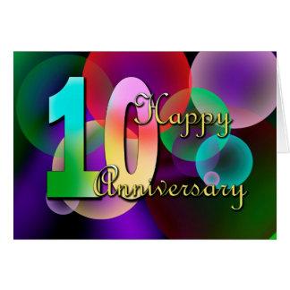 Glücklicher 10. Jahrestag (Hochzeitstag) Karte