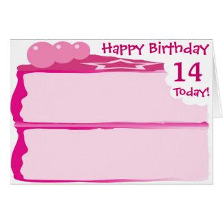 Glücklicher 14. Geburtstag Karte
