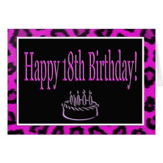 Glücklicher 18. Geburtstag mit Karte