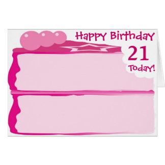 Glücklicher 21. Geburtstag Karte