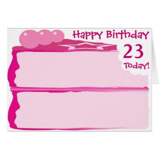 Glücklicher 23. Geburtstag Grußkarte