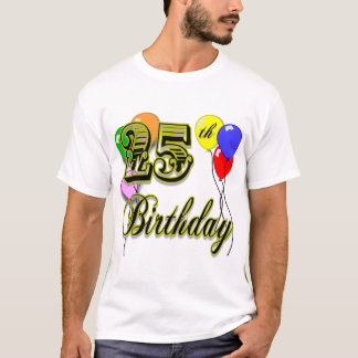 Glücklicher 25. Geburtstags-Ballon-T - Shirt