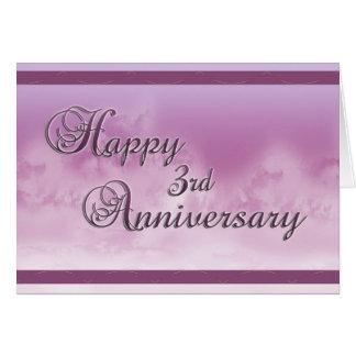 Glücklicher 3. Jahrestag (Hochzeitstag) Karte