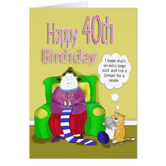 Glücklicher 40. Geburtstag Karte