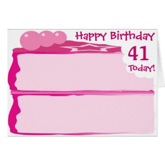 Glücklicher 41. Geburtstag Karte
