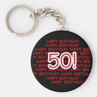 Glücklicher 50. Geburtstag Schlüsselanhänger