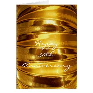 Glücklicher 50. Jahrestag in funkelndem Gold Karte
