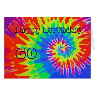 Glücklicher 60. Geburtstags-Groovy Krawatten-Karte Grußkarte