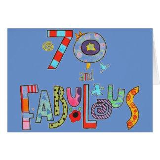Glücklicher 70. Geburtstag fabelhaft bei 70 Karte