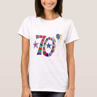 Glücklicher 70. Geburtstags-Ballon T-Shirt