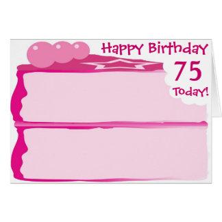 Glücklicher 75. Geburtstag Karte