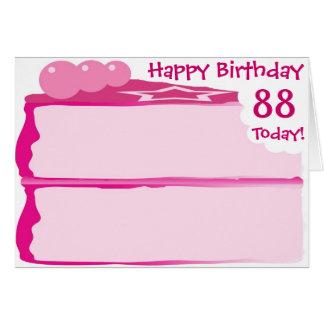 Glücklicher 88. Geburtstag Karte