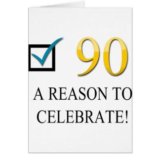Glücklicher 90. Geburtstag Karte