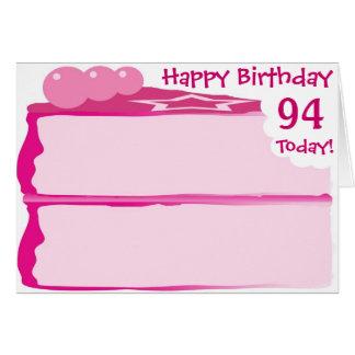 Glücklicher 94. Geburtstag Grußkarte