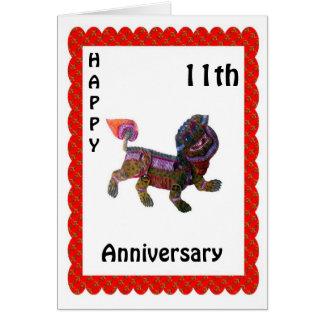 Glücklicher 9. Jahrestag Grußkarte