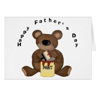 Glücklicher Bär des Vatertags-DIY - Karte