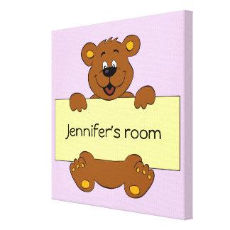 Glücklicher Bär mit kundengerechten Leinwanddruck