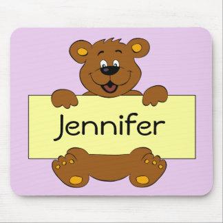 Glücklicher Bär mit kundengerechten Mousepad