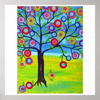Glücklicher Baum, Baum des Lebens, mexikanische Vo Poster