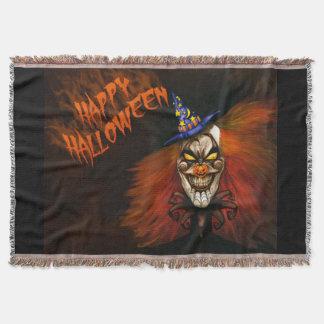 Glücklicher beängstigender Clown Halloweens Decke